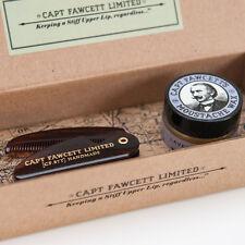 Captain Fawcett's Lavender Moustache Wax + Folding Moustache Comb Gift Set