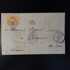 BELGIQUE BELGIEN LETTRE COVER CAD ARLON 1871 BELG. AMB ERQUELINES POUR BEAUNE
