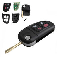 Keyless Entry Remote Key Fob Flip Uncut For Jaguar X-type S-type XJ8 XJR 433MHz