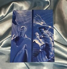 AQUAMAN THEN AND NOW~POST CARD/MINI ART PRINT~FROM ALEX ROSS 2005 OOP SET