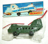 Dime Store Toy Helicopter Plastic Pan AM 1960/70s NOS New MIB Hong Kong