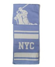 Polo Ralph Lauren Big Pony New York LTD Blue Washable Merino Wool USA Scarf NWT