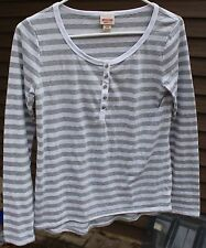 Women's Gray & White Striped Shirt by Mossimo Supply Co.; Size: S