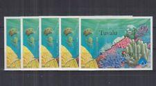 W442. 5x Tuvalu - MNH - Marine Life - Coral Reefs