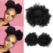 Synthetic Drawstring Hair Bun Short Curly Afro Chignon Updo Ponytail Extensions