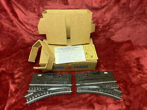 Lionel 142 Super O Pair Switches IN STRONG ORIGINAL BOX W/LINERS PACKET INSTRUC