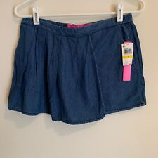 Tinseltown Denim Couture Womens Juniors Jean Skort Size Medium Blue New