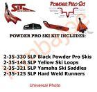 Yamaha SLP Powder Pro Ski Package Black Skis Yellow loops Saddles Runners