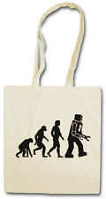 THE BIG BLACK ROBOT EVOLUTION I BANG THEORY Hipster Shopping Cotton Bag - Nerd