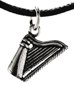 Anhänger kleine Harfe aus 925 Sterling Silber Musikinstrument Musik 358