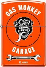 Zippo WindProof Lighter Gas Monkey Garage Wrench Neon Orange New Rare