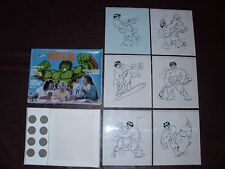 Vintage Incredible Hulk Cartoonarama Drawing Set Marvel Avengers Rare NMIMB 1979