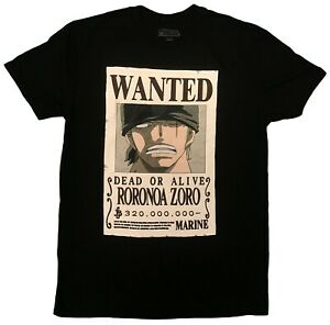 EXCLUSIVE One Piece Roronoa Zoro Wanted Poster Authentic Anime T-Shirt #34757