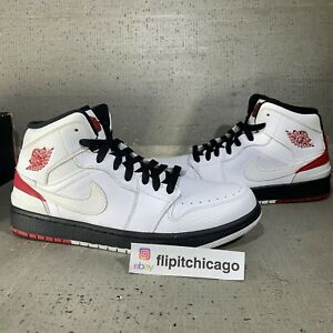 NIKE Air Jordan Retro '86 Chicago Sneakers White w/ Red Logo (644490-101) Sz 9.5