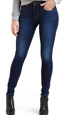 Levi's 721 Skinny Jeans High Rise Stretch In  Indigo Motif Red Tab
