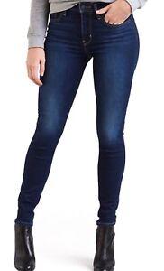Levi's 721 Skinny Jeans High Rise Stretch In  Indigo Motif Red Tab