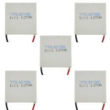 5PCS TEC1-12706 Cooling Peltier Plate Thermoelectric Cooler Heat Sink Module.