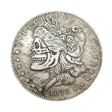 1878 Morgan Dollar Hobo Nickel Skull Zombie Skeleton And Bird Hobo Coin Fantasy