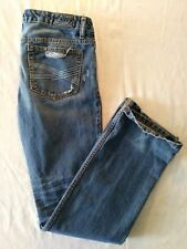Aeropostale Women's Boot Cut Distressed Destroyed Ripped Blue Jeans Size 5/6