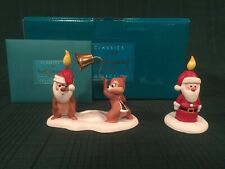 "WDCC Pluto's Christmas Tree Chip n Dale ""Little Mischief Makers"" & Santa Candle"