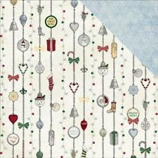 BoBunny 12x12 scrapbooking paper Tis the season collection, Silver Bell 2 sheets