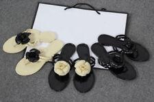 Summer Women's Flowers Jelly Sandals  Flip Flops Beach Thong Flat Shoes Slippers