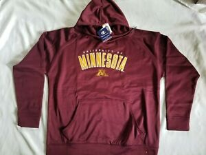 NWT CHAMPION Minnesota Golden Gophers Poly Fleece Hoodie Sweatshirt, M, XL, 2XL