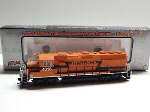HO Scale - Atlas Silver Indiana Harbor Belt GP40-2 Diesel Locomotive Train #4018