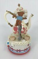 Vintage Enesco Mice Tea Party Music Box Tea For Two