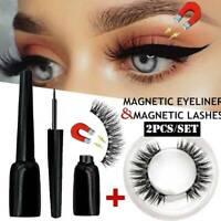 Magnetic Liquid Eyeliner With 3D Magnetic False Eyelashes Waterproof Lashes Set