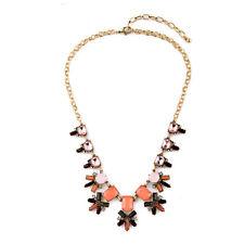 NEW * Urban Anthropologie Grande Zandra Pastel Orange Gemmed Necklace