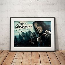 Harry potter rogue alan rickman signé-A4 brillant poster-livraison gratuite