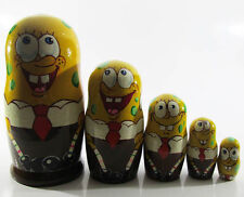 SpongeBob SquarePants Big Nesting dolls Matryoshka Disney Hand Painted 5pcs #6