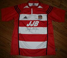 Wigan Warriors Rugby League Signed Adidas Jersey shirt JJB Tesco soccer Men's L