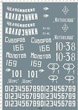 Detail Up 1/16 Military WWII T-34-76 T-34/76 Russian U.S.S.R. Tank Model Decal