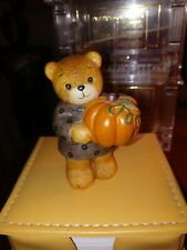 Lucy & Me Thanksgiving Bear With Pumpkin Lucy Rigg Enesco Vintage New 1985