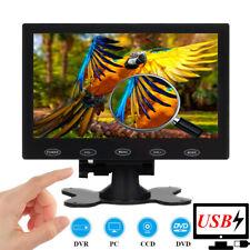 "Portable 7"" LCD Monitor PC Display Screen HDMI AV VGA BNC 1024*600 USB Powered"
