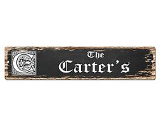 SP0483 The CARTER'S Family name Plate Sign Bar Store Cafe Home Chic Decor Gift