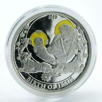 Palau 2 Dollars, Birth of Jesus, Biblical Stories Religion Silver coin 2012 Rare