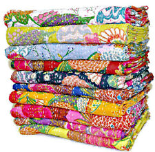 SET OF 5 Kantha Quilts, Kantha Bedcovers,Hand Quilted Bedcovers  Blankets throw
