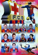 POSTER club barcelona futbol  11x16 barcelona fifa lionel messi mesi xavi villa