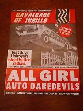 Uniroyal Ford Auto Daredevils 1973 Souvenir Program Cavalcade Of Thrills Show