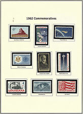 U.S. 1962 Commemorative Year Set, 17 items (2 scans) Complete, mNH Fine