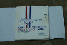 Old Vintage 1989 Parts Catalog Mid County Mustang MCM Model 1965 - 1973 Ford PA