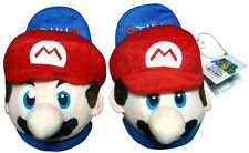 Nintendo Super Mario Brothers Red Mario Kids Children Soft Plush SLIPPER 1 Pair