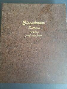 Complete EISENHOWER Dollar set Dansco Album 36 coins Silver & Proofs Most unc