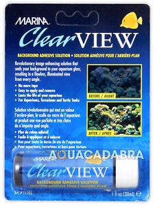 Marina Clear View Background Poster Fix Adhesive No Tape Aquarium Fish Tank