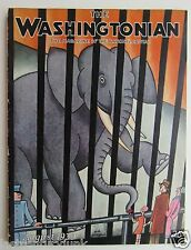 Very Rare The Washingtonian Magazine Art Cover by H.O. Hoffman August 1930