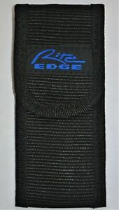 "5"" Black Nylon Folding Knife Pouch 2 Position Dual Carry Belt Sheath Rite-Edge"