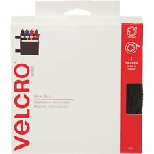 Adhesive Backed BLACK VELCRO® Brand STICK ON LOOP ONLY TAPE 25mmx5m Cut To Size